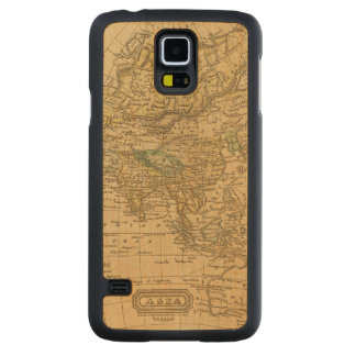 Asia  Map by Worcester Carved Maple Galaxy S5 Case