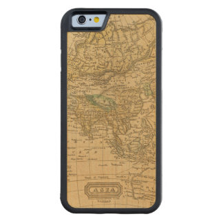Asia  Map by Worcester Carved Maple iPhone 6 Bumper Case