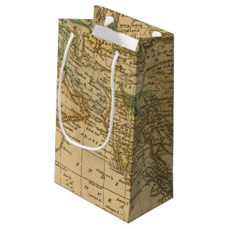 Asia  Map by Worcester Small Gift Bag