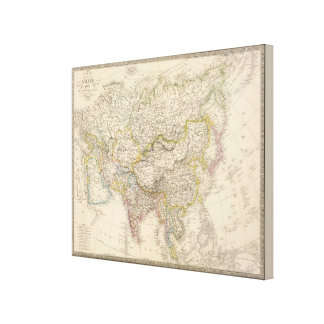 Asia Map Canvas Print