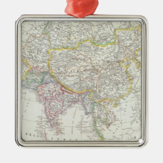 Asia Map Christmas Ornament