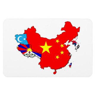 ASIA MAP RECTANGULAR PHOTO MAGNET