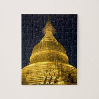 Asia, Mayanmar, Yangon, Buddhist temple in Jigsaw Puzzle