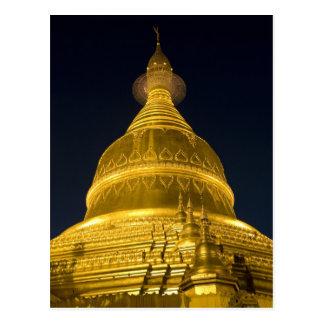 Asia, Mayanmar, Yangon, Buddhist temple in Postcard