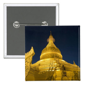 Asia, Maynmar, Yangon, Buddhist temple in Yangon 15 Cm Square Badge