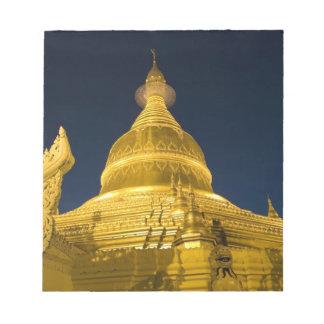 Asia, Maynmar, Yangon, Buddhist temple in Yangon Notepad
