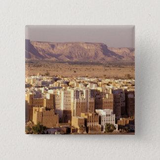 Asia, Middle East, Republic of Yemen. Shibam 15 Cm Square Badge