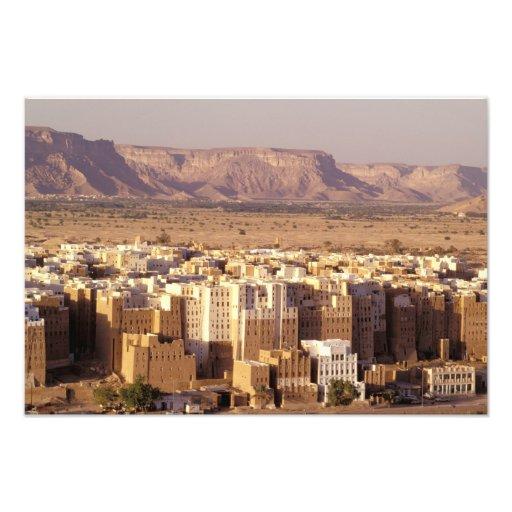Asia, Middle East, Republic of Yemen. Shibam Photo Print