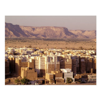 Asia, Middle East, Republic of Yemen. Shibam Postcard