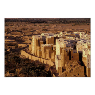 Asia, Middle East, Republic of Yemen, Shibam Poster