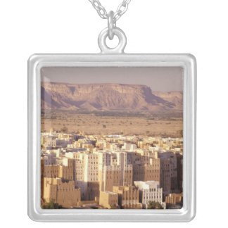 Asia, Middle East, Republic of Yemen. Shibam Silver Plated Necklace