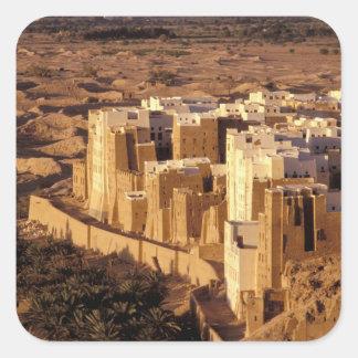 Asia, Middle East, Republic of Yemen, Shibam Square Sticker