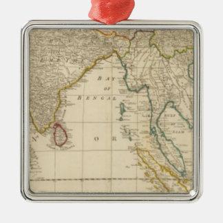 Asia middle Silver-Colored square decoration