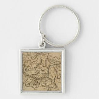 Asia Minor 2 Silver-Colored Square Key Ring