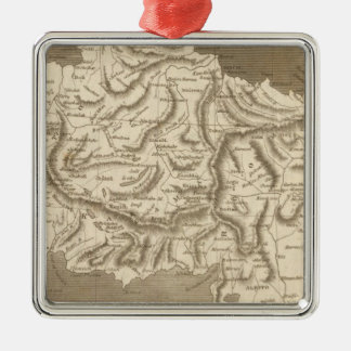 Asia Minor Map by Arrowsmith Christmas Ornament
