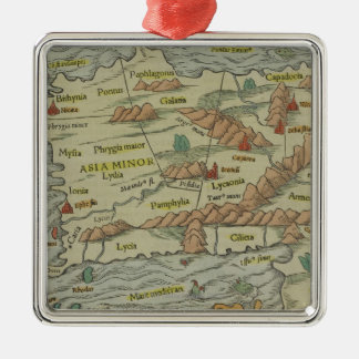 Asia Minor Silver-Colored Square Decoration