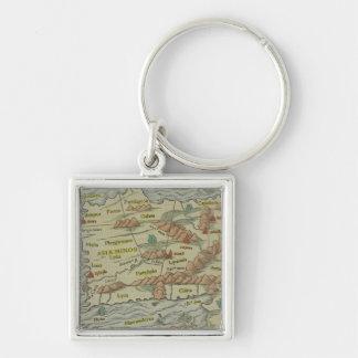 Asia Minor Silver-Colored Square Key Ring