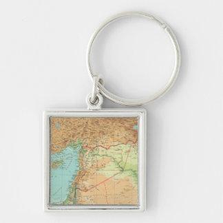 Asia Minor, Syria & Mesopotamia Silver-Colored Square Key Ring