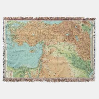 Asia Minor, Syria & Mesopotamia Throw Blanket