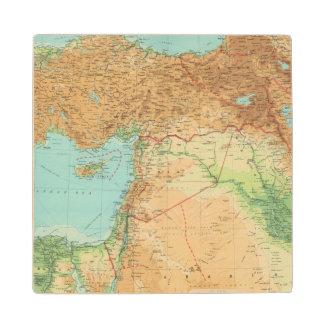Asia Minor, Syria & Mesopotamia Wood Coaster