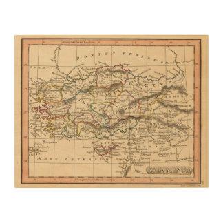 Asia Minor Wood Print