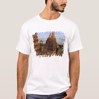 Asia, Myanmar, Bagan. Ancient temples and T-Shirt