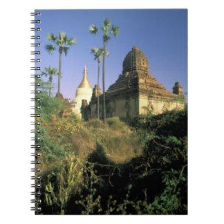 Asia, Myanmar, Bagan. Kubyauk-Gyi Temple. Notebook