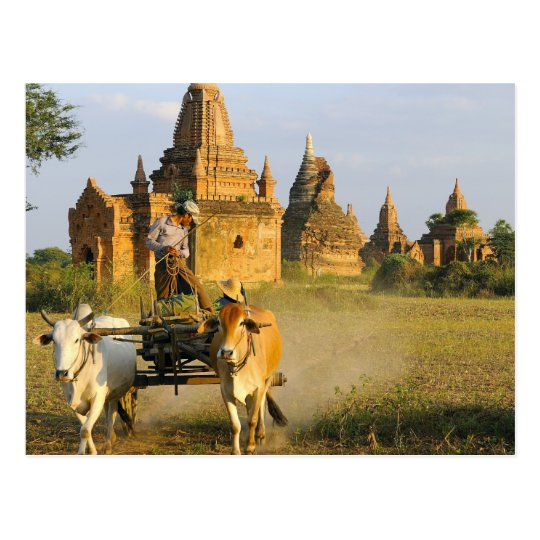 Asia, Myanmar (Burma), Bagan (Pagan). A cart is