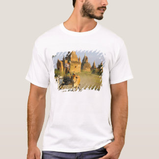 Asia, Myanmar (Burma), Bagan (Pagan). A cart is T-Shirt