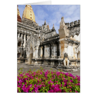 Asia, Myanmar (Burma), Bagan (Pagan). The Ananda Greeting Card