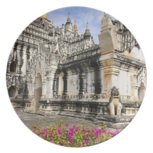 Asia, Myanmar (Burma), Bagan (Pagan). The Ananda Party Plates