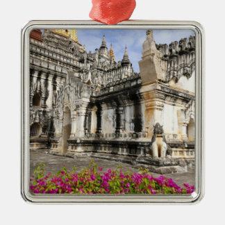 Asia, Myanmar (Burma), Bagan (Pagan). The Ananda Silver-Colored Square Decoration