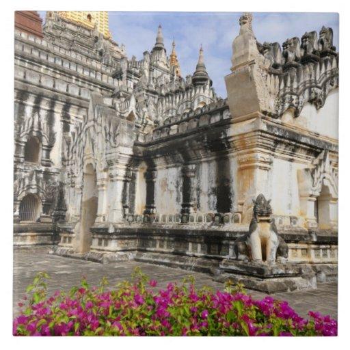 Asia, Myanmar (Burma), Bagan (Pagan). The Ananda Ceramic Tiles