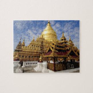 Asia, Myanmar (Burma), Bagan (Pagan). The Shwe 2 Jigsaw Puzzle