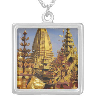 Asia, Myanmar (Burma), Bagan (Pagan). The Shwe 3 Silver Plated Necklace