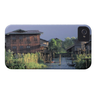 Asia, Myanmar, Inle Lake. A floating village on Case-Mate iPhone 4 Case