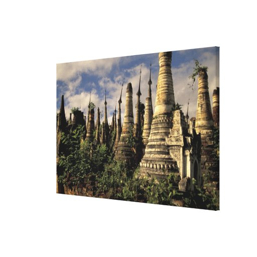 Asia, Myanmar, Inle Lake. Ancient ruins of Canvas Print