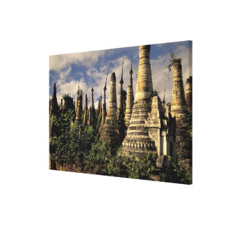 Asia, Myanmar, Inle Lake. Ancient ruins of Canvas Print