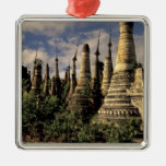 Asia, Myanmar, Inle Lake. Ancient ruins of Christmas Ornaments