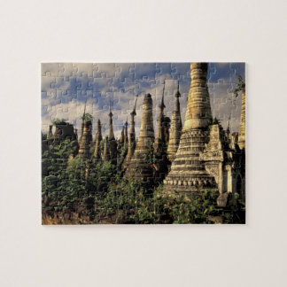 Asia, Myanmar, Inle Lake. Ancient ruins of Jigsaw Puzzle