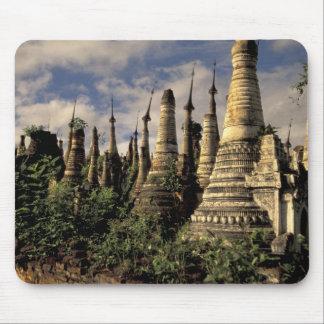 Asia, Myanmar, Inle Lake. Ancient ruins of Mouse Mat