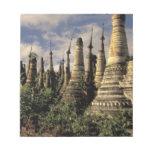 Asia, Myanmar, Inle Lake. Ancient ruins of Memo Pads