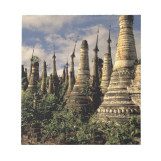 Asia, Myanmar, Inle Lake. Ancient ruins of Notepad