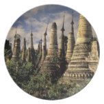 Asia, Myanmar, Inle Lake. Ancient ruins of Dinner Plates