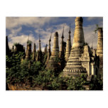 Asia, Myanmar, Inle Lake. Ancient ruins of Postcard
