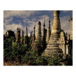 Asia, Myanmar, Inle Lake. Ancient ruins of Poster