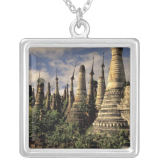 Asia, Myanmar, Inle Lake. Ancient ruins of Silver Plated Necklace
