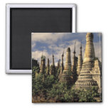 Asia, Myanmar, Inle Lake. Ancient ruins of Square Magnet