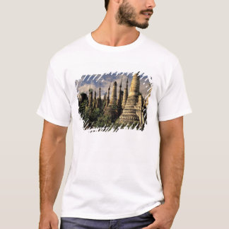 Asia, Myanmar, Inle Lake. Ancient ruins of T-Shirt