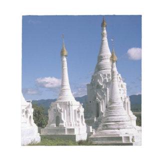 Asia, Myanmar, Inle Lake. Pagodas. 2 Notepad